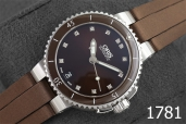 1781-ORIS AQUIS DATE DIAMONDS 36MM.