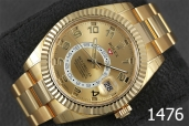 1476-ROLEX SKY- DWELLER 18K GOLD CHAMPAGNE DIAL