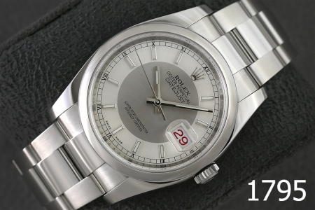1795-ROLEX DATEJUST 36 SILVER DIAL