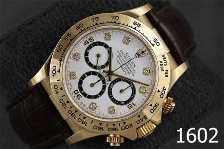 1602-ROLEX DAYTONA ZENITH WHITE DIAMONDS 18K GOLD