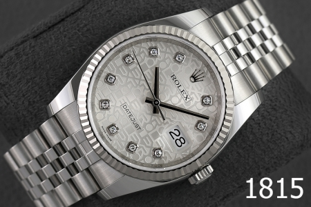 1815-ROLEX DATEJUST 36 OYSTERSTEEL AND WHITE GOLD