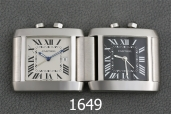 1649-CARTIER TANK TRAVEL CLOCK LIMITED
