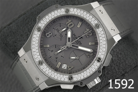 1592-HUBLOT BIG BANG EARL GRAY DIAMONDS SPECIAL EDITION